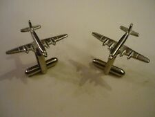 Douglas DC-4 c106 Pair of Cufflinks Made From Fine English Modern Pewter
