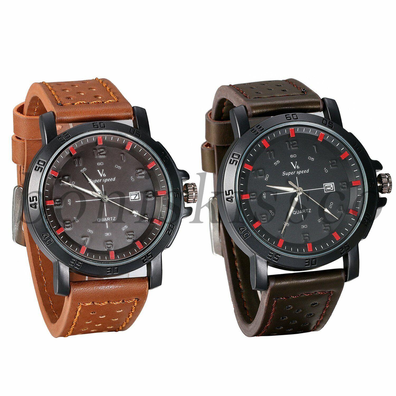 Retro Leather Band Fish Anchors Dial Men Women Quartz Wrist Watch Valentine Gift For Sale Online Ebay