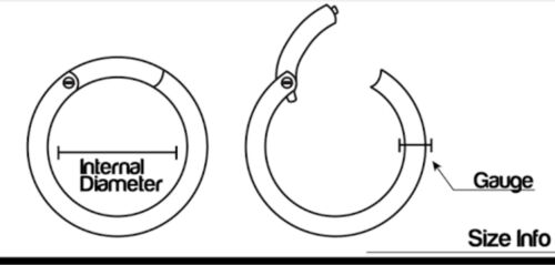 316L 20g 0.8mm Thin Hinged Segment Clicker Hoop Ring Lip Ear Nose Piercing 1pc
