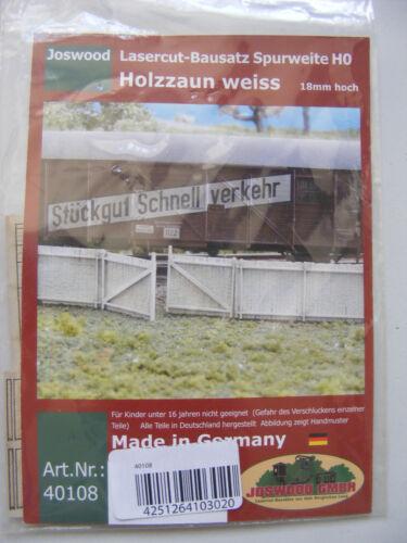 World Fencing for HO Guage Model Railway Joswood Lasercut