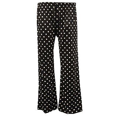 New Plus Size Womens Floral Print Ladies Wide Leg Palazzo Trousers Pants 16 - 30