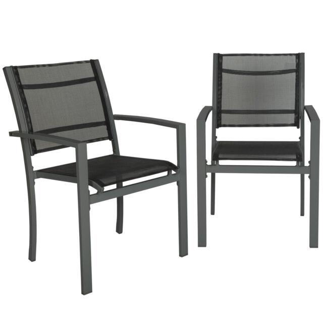 Set di 4 sedie da giardino poltrona Campeggio metallo arredo