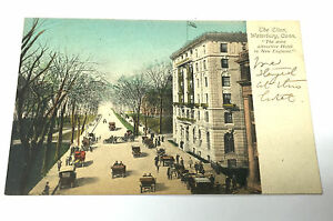 Image Is Loading Vintage Hand Colored Postcard The Elton Hotel Cars