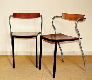 PASCAL-amp-OLIVIER-MOURGUE-ed-ARTELANO-Paire-fauteuils-1980-Memphis-Design-Chairs