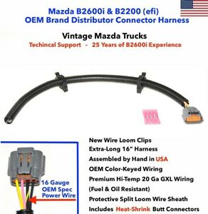 Details about NEW OEM Mazda B2600i Distributor Connector Plug Repair  Harness Pigtail 4-Wire