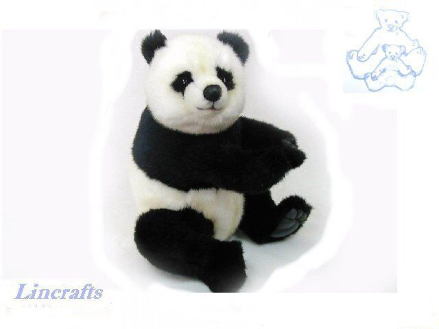 Hansa Sitting Panda 4184 Plush Soft Toy Sold by Lincrafts Established 1993