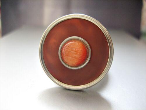 """Glasstein zur Auswahl #5 /""""Orange // Rot/"""" m Charlotte 21 2mm Zylinder komp"""