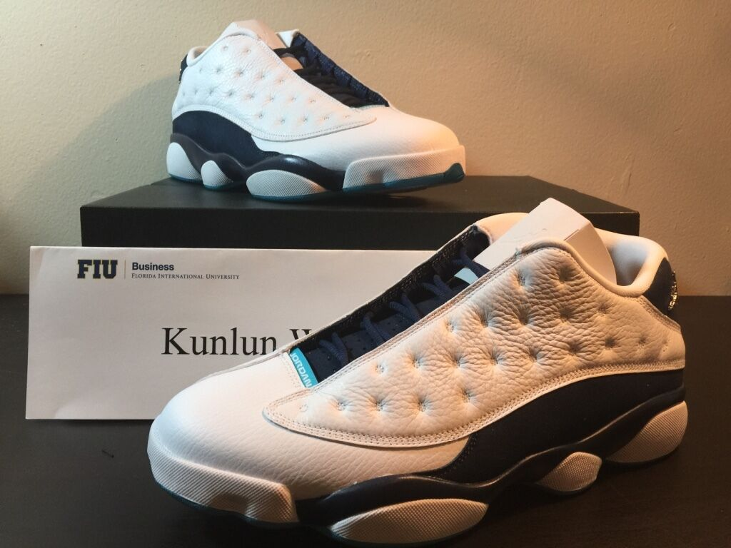 best sneakers 5c4d6 ed237 ... coupon for nike air jordan 13 xiii retro low hornets talla blanco plata  azul marino talla