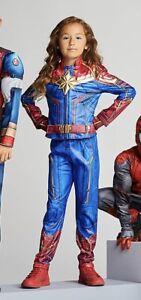 Nwt Officially Licensed Captain Marvel Costume Cosplay Kids Girls 7 8 Disney Ebay Najlepsze oferty i okazje z całego świata! ebay