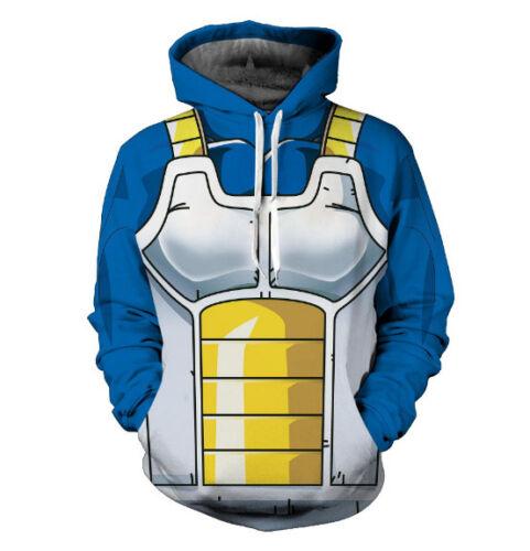 Women//Men Dragon Ball Z Vegeta Vest Funny 3D Print Casual Hoodie Sweatshirt Tops
