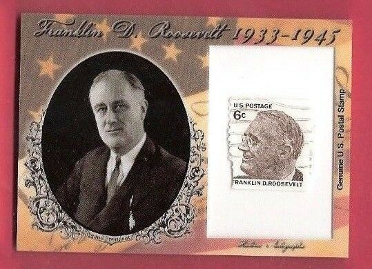 FRANKLIN D ROOSEVELT USA PRESIDENT AUTHENTIC STAMP RELIC 2018 HISTORIC AUTOGRAPH
