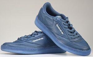 c646fcc3e1705 Reebok Classic Club C 85 Men s Shoe Ice Blue Shoe leather upper ...