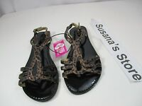 Bebe Flat Sandals With Super Sass. Ankle Cuff Size 7 Sets Your Casual Look