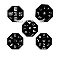 5pcs Nail Art Metal Stamp Image Template Plate (QA 21-25)