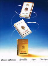 PUBLICITE ADVERTISING  1990   BENSON & HEDGES   cigarettes