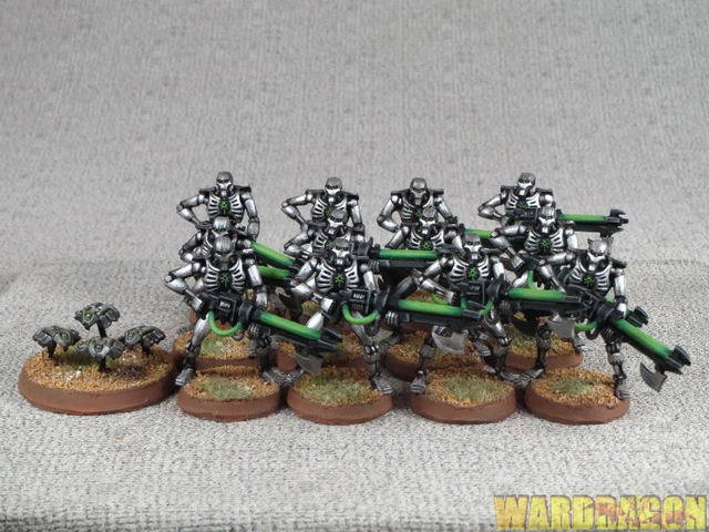 25mm Warhammer 40K WDS painted Necrons  Warriors k26  offrendo il 100%
