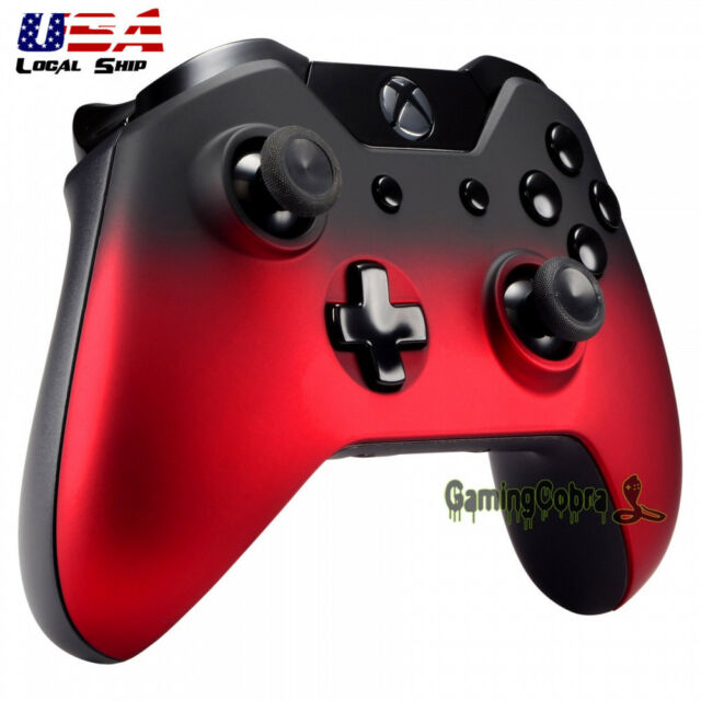 Replacement Front Shell Faceplate for Xbox One Controller Shadow Red Soft Touch