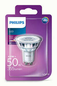 Philips-LED-Glass-4-6w-GU10-50w-A-Spot-Light-Bulb-Lamp-355lm-Warm-White