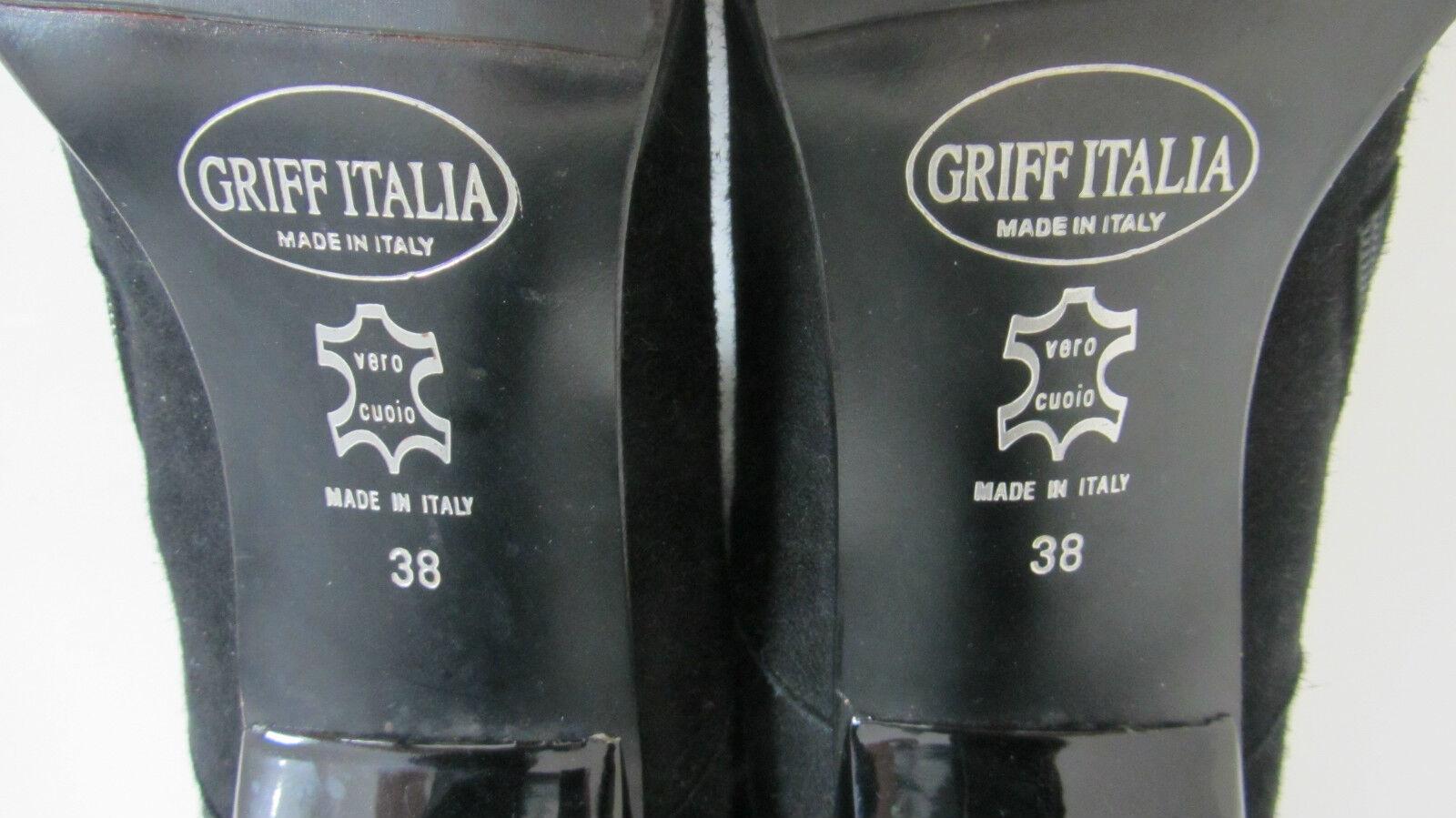 Allevati col Designer Stivali 38 * MANIGLIA Italia * Tg. 38 Stivali * in pelle bd72d1