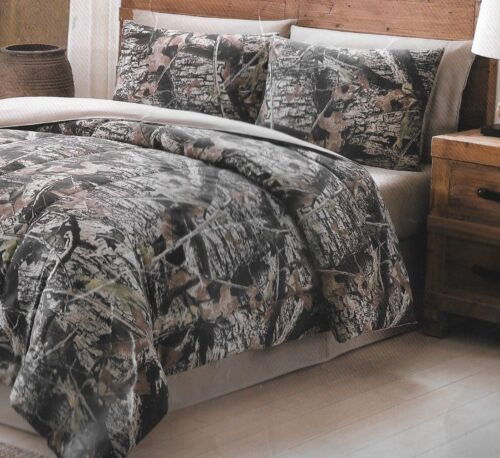 Mount Monadnock Queen size Remington Camo Natural Brown Hunting 8 pc Bedding set