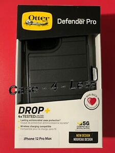 OTTERBOX Defender Pro Series Case & Holster for Apple iPhone 12/12pro Black
