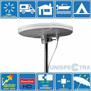 MOTORHOME-CARAVAN-BOAT-DIGITAL-ACTIVE-OMNI-DIRECTIONAL-TV-AERIAL-FREEVIEW