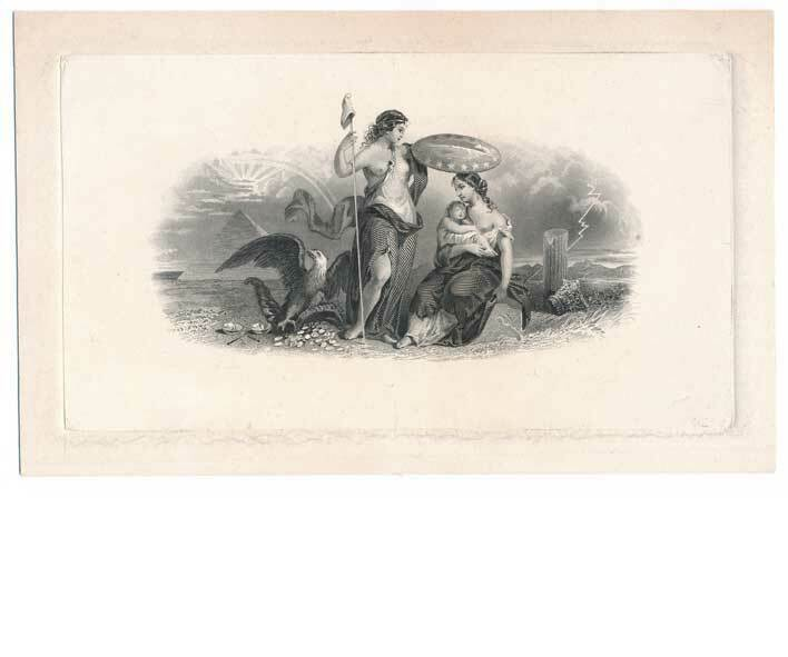 Allegorical Scene by Charles Burt 1859, Liberty protect