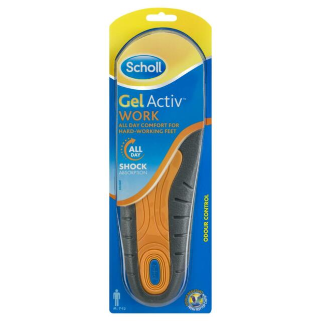 Scholl Gel Activ Work For Hardworking Feet (Mens) Sole Shaped Work Shoes Insole