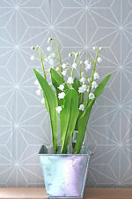 Maiglöckchen im Moostopf hochwertige Seidenblumen 25x7cm 1:1 Frühlingsdeko