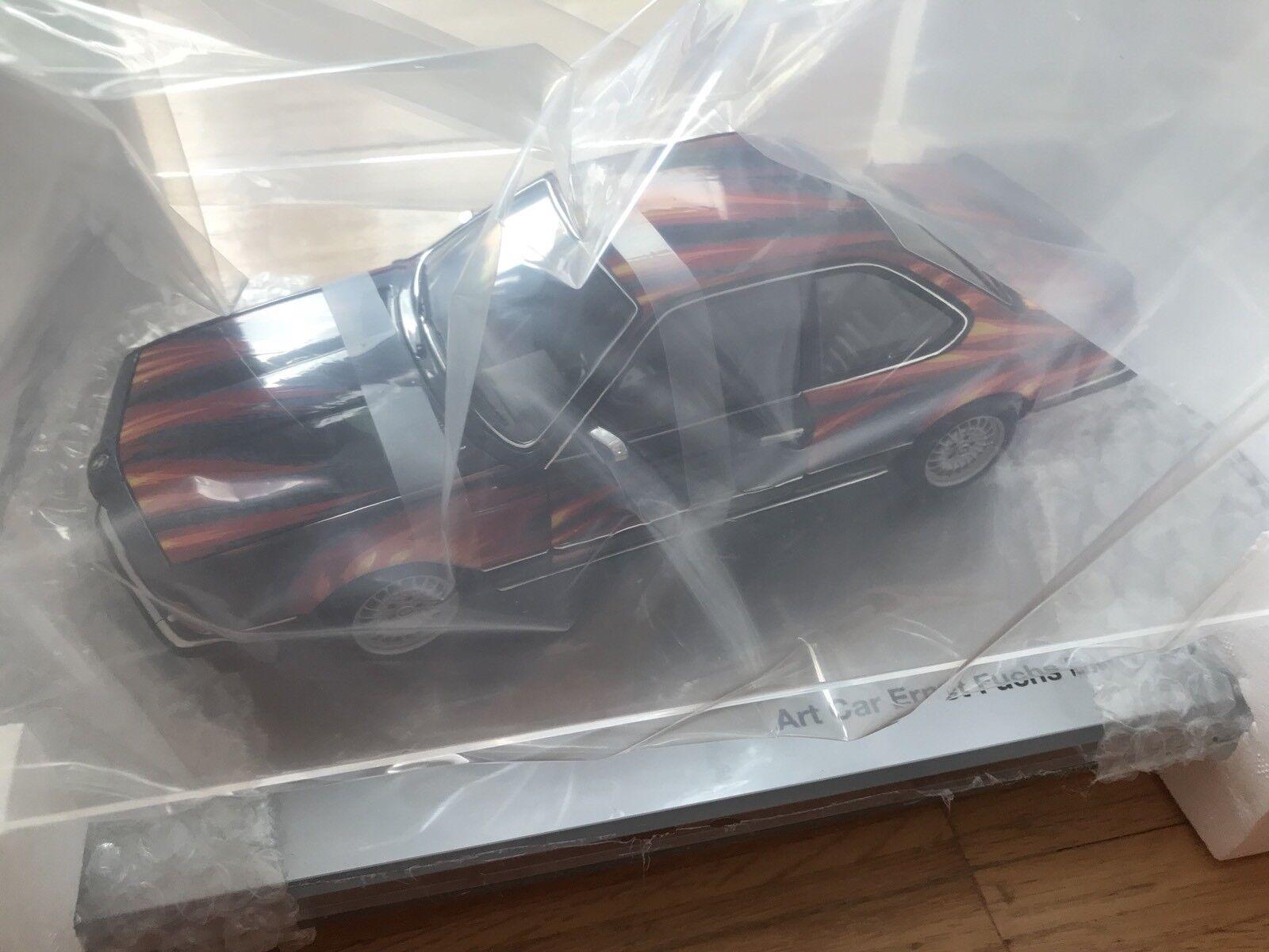 "BMW Art Car Miniatur 1 18  Ernst Fuchs "" BMW 635 CSI Neu Ovp"