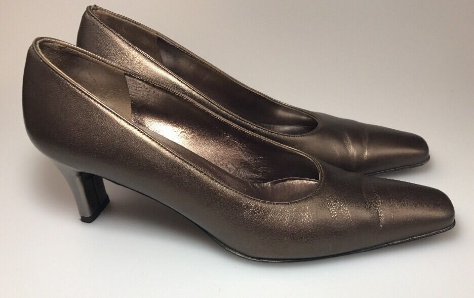 Salvatore Ferragamo Classic Pumps Größe 7.5 7.5 7.5 AAA Stephanie Wear To Work Leder fa4ce9