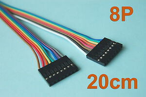 50-Pcs-20cm-7-9-034-Length-Dupont-Wire-Cable-8p-8p-Pin-Header-2-54mm-Pitch