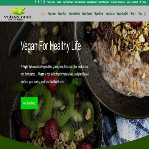 Vegan Food Store Wordpress Website //woocommerce//Ebay//amazon//aliexpress ready