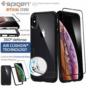 info for 15274 4e29a Details about [FREE EXPRESS] iPhone XS Max Case,Spigen Ultra Hybrid 360  Cover w Tempered Glass