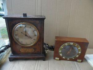 Two Warren Telechran Vintage Clocks Desk Shelf Mantel Clock Electric As Is Usa Ebay