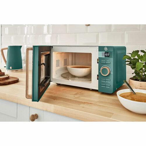 Digitale Mikrowelle 20L Modernes Design Nordic 800W SWAN SM22036GRENEU  Ljyg0