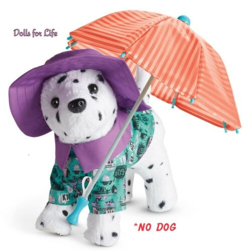 American Girl Popcorn/'s Rainy Day Outfit for Puppy NEW IN BOX umbrella