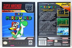 Super-Mario-World-Super-Nintendo-SNES-Custom-Case-NO-GAME