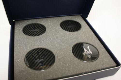 - Carbon Fiber Center Caps m145 Genuine Accessory Maserati GranTurismo