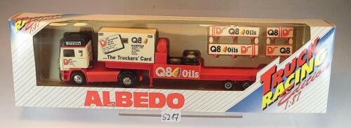 Albedo 1//87 Volvo Tieflader Sattelzug Q8 Oils Truck Racing OVP #5217