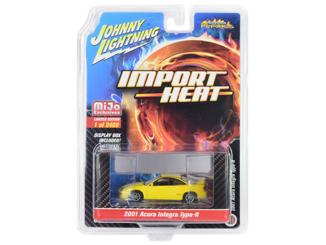 Johnny Lightning 1//64 Import Heat 1991 Honda CRX Black MIJO EXCLUSIVE JLCP7169