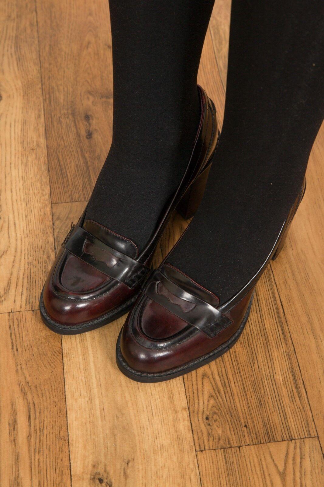 Vintage heeled style oxblood Leder heeled Vintage loathers Clarks 1be324