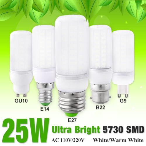 25W Ultra Bright Lights LED Corn Bulbs Lamp Warm Milky White E14//G9//GU10//E27//B22