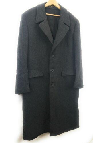 LONDON FOG Vtg USA Long WOOL Coat Overcoat Mens Si