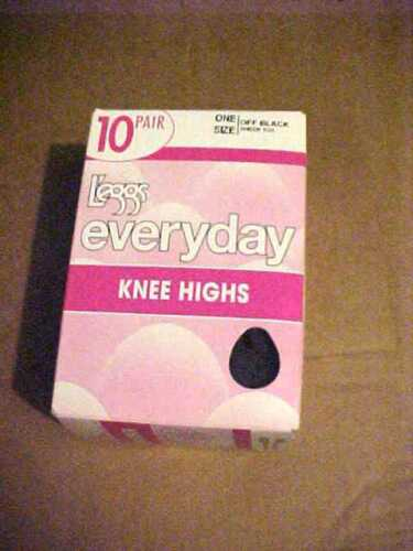 10 Pairs of L/'eggs Everyday Knee Highs Sheer Toe Off Black