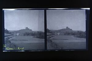 Chateau-Da-Murat-Auvergne-Foto-Stereo-Negativo-Su-Film-Morbido-1914