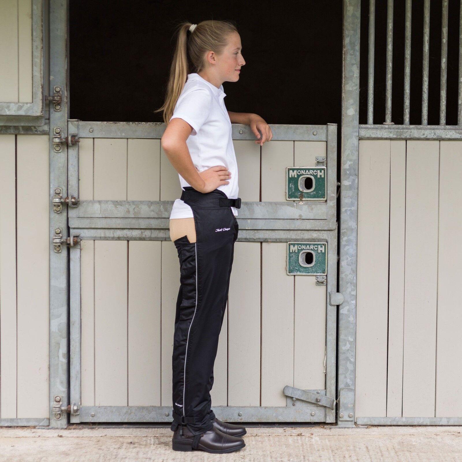Just Chaps Adulti Equitazione ImpermeabileCon Fodera Dri Ridersa cavallo COMPLETO Chaps