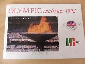 Brooke Bond PG Tips Picture Card Album  Olympic Challenge 1992  Complete - Brigg, United Kingdom - Brooke Bond PG Tips Picture Card Album  Olympic Challenge 1992  Complete - Brigg, United Kingdom