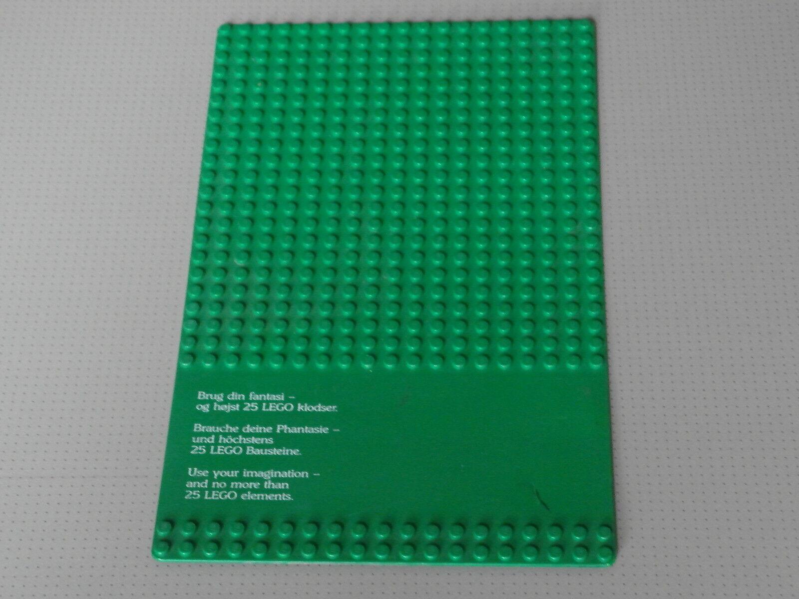 Lego Base Plate 19 x 32 Studs Green - RARE Legoland Billund Contest