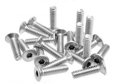 """20 X 1/4"""" Stainless Steel Screw 25mm/1"""" Long for Tripod Head / Clamp 4mm Hex"""